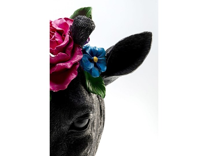 Figurka dekoracyjna Mask Giraffe Flower 28x46 cm Metal Tworzywo sztuczne Kategoria Figury i rzeźby