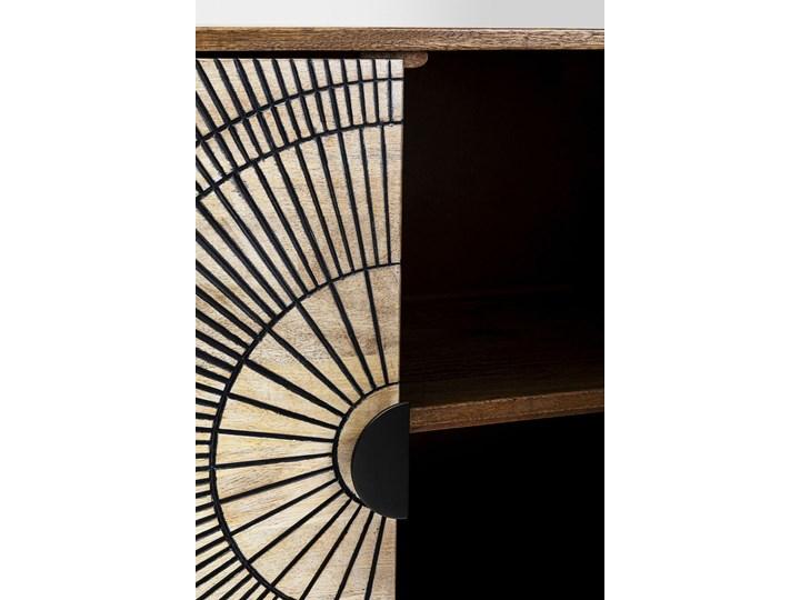 Komoda Eye of Tiger 115x78 cm mango Drewno Kategoria Komody Szerokość 115 cm Płyta MDF Kolor Beżowy