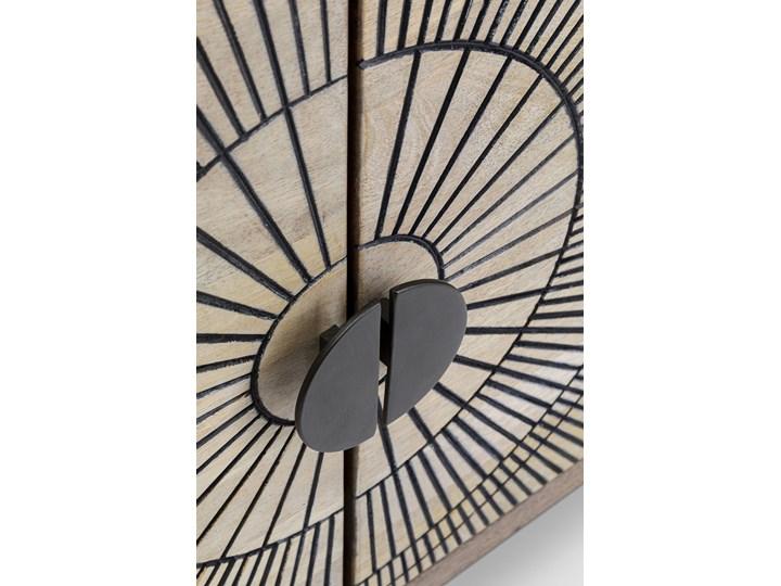 Komoda Eye of Tiger 115x78 cm mango Drewno Szerokość 115 cm Płyta MDF Kategoria Komody