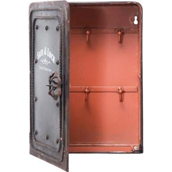 Regał na klucze Key Box 24x31 cm czarno-brązowy