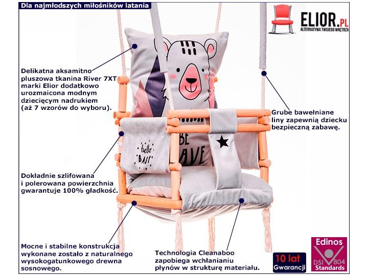Huśtawka 3w1 rośnie razem z dzieckiem Alwa - jelonek Kubełkowa Kategoria Huśtawki dla dzieci