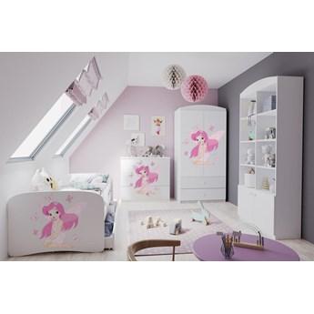 Zestaw mebli dziecięcych dla dziewczynki z łóżkiem 140x70 BABYDREAMS - Meb24.pl
