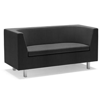 Sofa 2-osobowa EDGE, tkanina Repetto, szara czerń