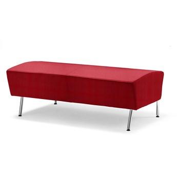 Siedzisko proste ALEX, 1200 mm, tkanina Repetto, rdzawa czerwień