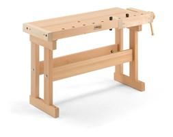 Drewniany stół stolarski, 1070x400x750 mm, buk