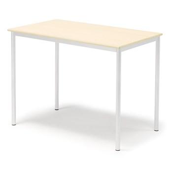 Stół SONITUS, 1200x700x900 mm, laminat brzoza, biały