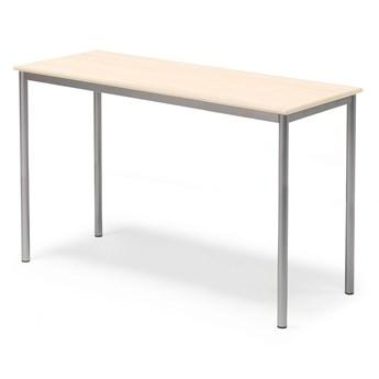 Stół SONITUS, 1400x600x900 mm, brzoza laminat, szary aluminium