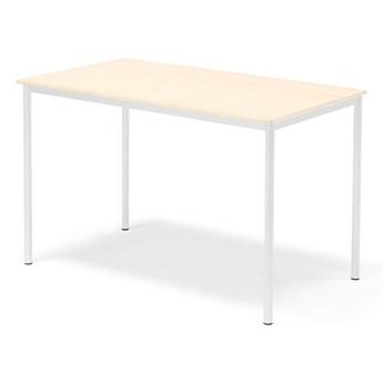 Stół SONITUS, 1400x800x900 mm, laminat brzoza, biały