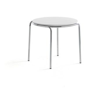 Stolik kawowy ASHLEY, Ø570 x 470 mm, chrom, biały