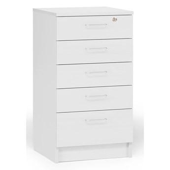 Komoda THEO, 5 szuflad, biały