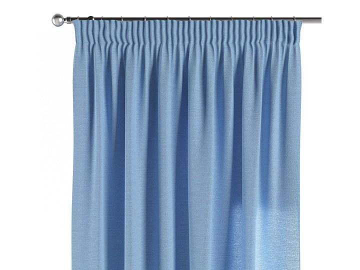 Zasłona na taśmie marszczącej 1 szt., niebieski, 1szt 130 × 260 cm, Loneta Poliester Bawełna Zasłona zaciemniająca 130x260 cm Mocowanie Taśma
