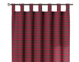 Zasłona na szelkach 1 szt., czerwona kratka, 1szt 130 × 260 cm, Bristol