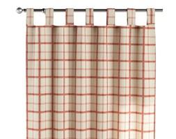 Zasłona na szelkach 1 szt., ecru tło, czerwona kratka, 1szt 130 × 260 cm, Avinon