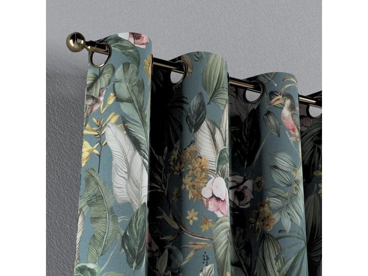 Zasłona na kółkach 1 szt., kwiaty na zielono-niebieskim tle, 1szt 130 × 260 cm, Abigail 130x260 cm Bawełna Zasłona zaciemniająca Kategoria Zasłony