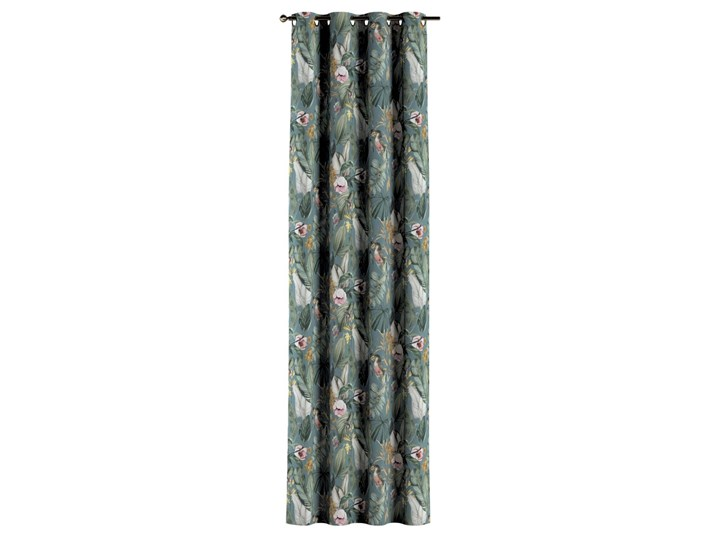 Zasłona na kółkach 1 szt., kwiaty na zielono-niebieskim tle, 1szt 130 × 260 cm, Abigail Pomieszczenie Jadalnia 130x260 cm Bawełna Zasłona zaciemniająca Pomieszczenie Sypialnia
