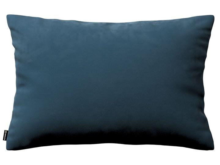 Poszewka Kinga na poduszkę prostokątną, pruski błękit, 60 × 40 cm, Velvet Prostokątne Poszewka dekoracyjna Kolor Granatowy 40x60 cm Poliester 45x65 cm Pomieszczenie Pokój nastolatka