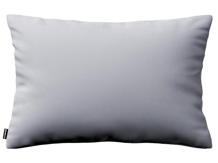 Poszewka Kinga na poduszkę prostokątną, srebrzysty szary, 60 × 40 cm, Velvet Wzór Jednolity Poszewka dekoracyjna Prostokątne 40x60 cm 45x65 cm Poliester Kolor Srebrny