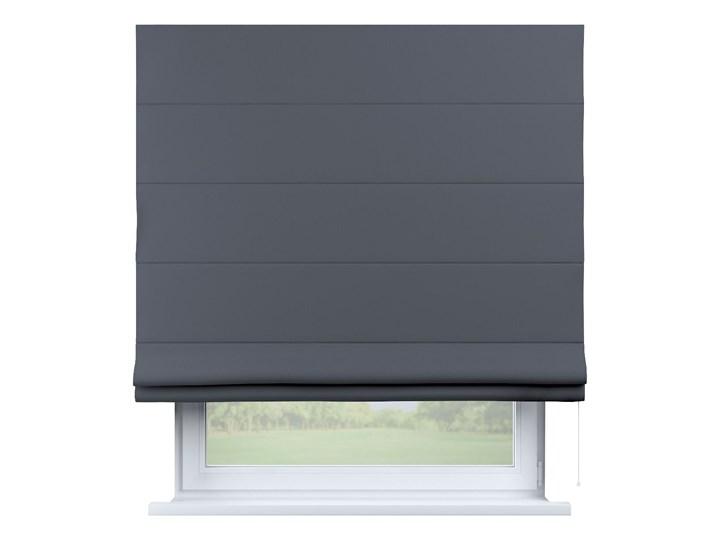Roleta rzymska zaciemniająca, ciemno szary, szer.80 × dł.170 cm, Blackout - zaciemniające Kolor Czarny Typ Roleta zaciemniająca