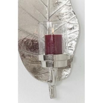 Świecznik Leaf 25x56 cm srebrny
