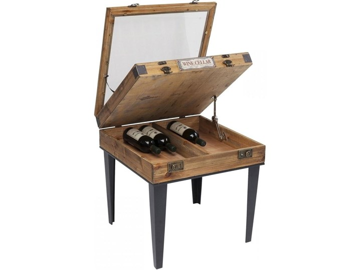 Stolik kawowy Collector 55x55 cm drewniany Szkło Styl Vintage Stal Płyta meblowa Drewno Kategoria Stoliki i ławy