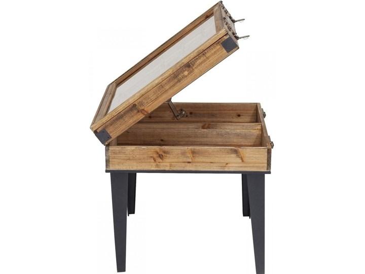 Stolik kawowy Collector 55x55 cm drewniany Kształt blatu Kwadratowe Drewno Stal Szkło Płyta meblowa Kolor Beżowy