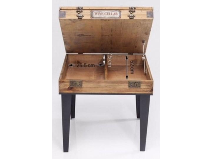Stolik kawowy Collector 55x55 cm drewniany Płyta meblowa Drewno Stal Szkło Kształt blatu Kwadratowe