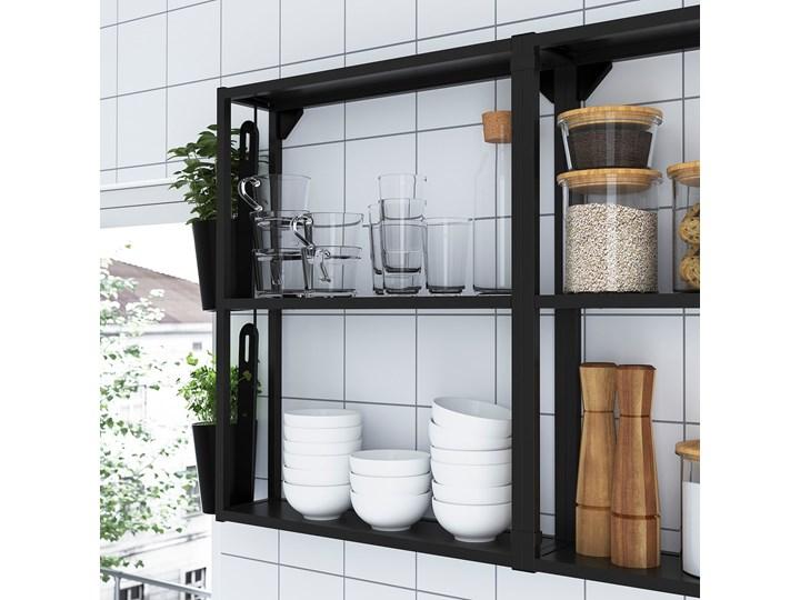 IKEA ENHET Kuchnia, antracyt/biały, 103x63.5x222 cm Kategoria Zestawy mebli kuchennych