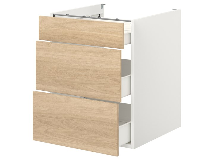 ENHET Szafka stojąca/3 szuflady Drewno Kategoria Szafki kuchenne Szafka dolna Kolor Beżowy