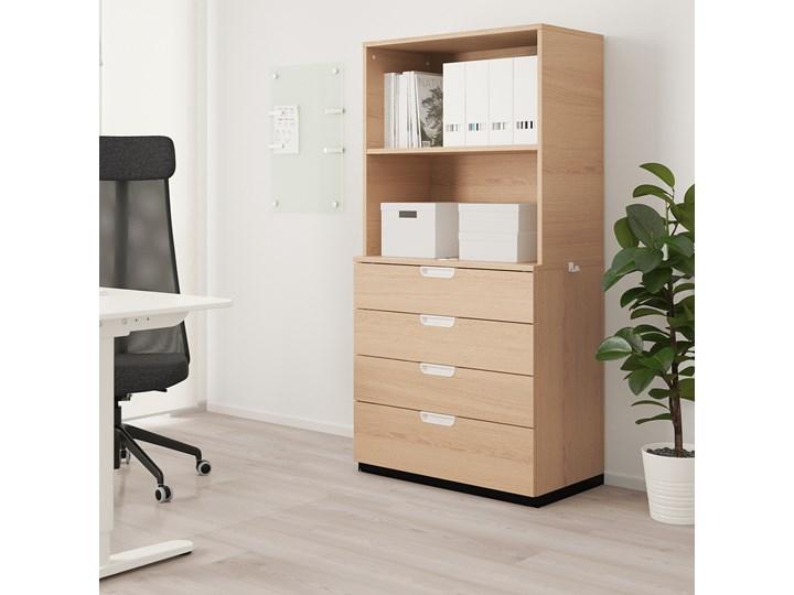 IKEA GALANT Kombinacja z szufladami, Okleina dębowa bejcowana na biało, 80x160 cm Kolor Biały Kategoria Zestawy mebli do sypialni