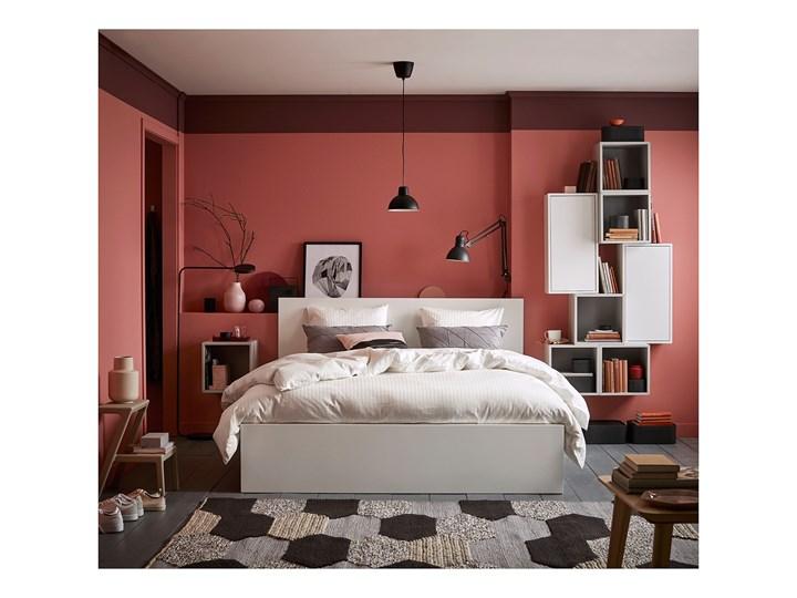 IKEA MALM Rama łóżka, wysoka, Biały, 140x200 cm Łóżko drewniane Kolor Szary
