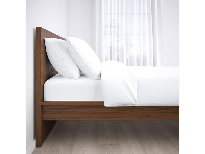 IKEA MALM Rama łóżka, wysoka, Brązowa bejca okleina jesionowa, 160x200 cm Kolor Brązowy Łóżko drewniane Drewno Kolor Szary