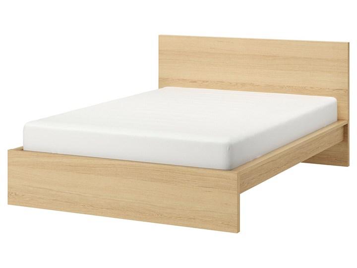 MALM Rama łóżka, wysoka Łóżko drewniane Kolor Beżowy