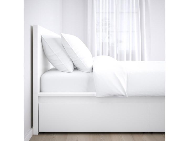 IKEA MALM Rama łóżka z 2 pojemnikami, Biały, 160x200 cm Kategoria Łóżka do sypialni Łóżko drewniane Pojemnik na pościel Z pojemnikiem
