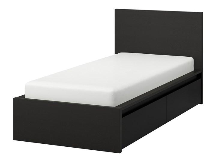MALM Rama łóżka z 2 pojemnikami Łóżko drewniane Kolor Czarny