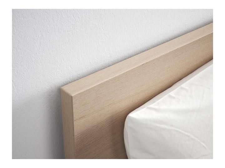 IKEA MALM Rama łóżka z 2 pojemnikami, Okleina dębowa bejcowana na biało, 90x200 cm Drewno Łóżko drewniane Kolor Beżowy
