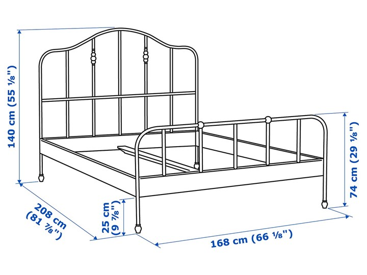 SAGSTUA Rama łóżka Kategoria Łóżka do sypialni Łóżko metalowe Kolor Czarny