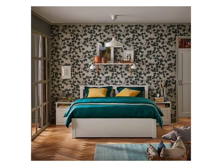 IKEA SONGESAND Rama łóżka z 2 pojemnikami, biały, 140x200 cm Łóżko drewniane Kategoria Łóżka do sypialni