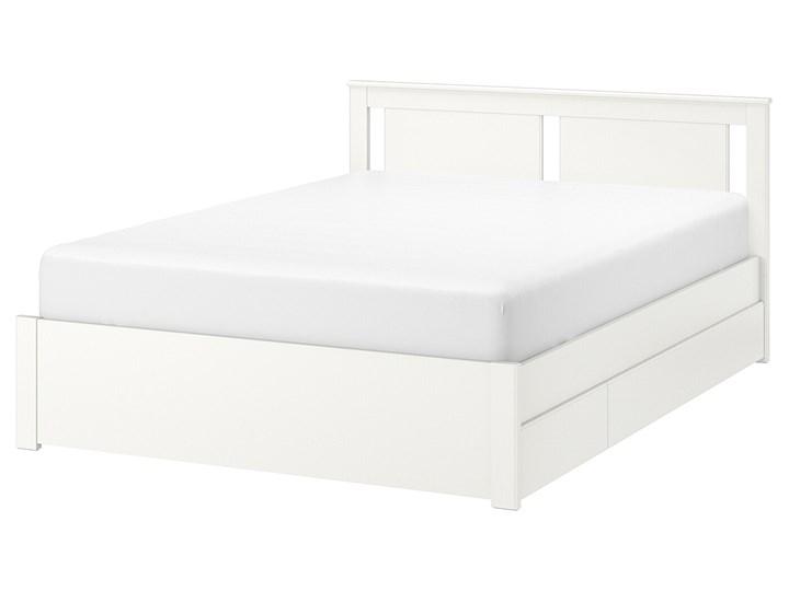 SONGESAND Rama łóżka z 4 pojemnikami Kategoria Łóżka do sypialni Łóżko drewniane Kolor Biały