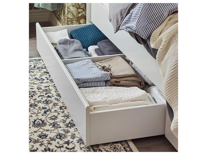 IKEA SONGESAND Rama łóżka z 4 pojemnikami, biały, 160x200 cm Kategoria Łóżka do sypialni Łóżko drewniane Styl Klasyczny