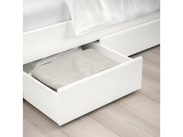 IKEA SONGESAND Rama łóżka z 4 pojemnikami, biały, 140x200 cm Kategoria Łóżka do sypialni Łóżko drewniane Kolor Szary