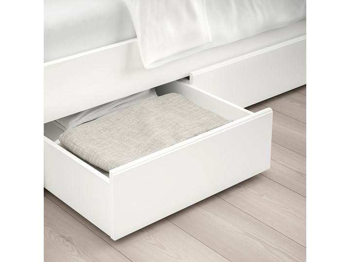 IKEA SONGESAND Rama łóżka z 4 pojemnikami, biały, 160x200 cm Łóżko drewniane Kategoria Łóżka do sypialni Styl Klasyczny