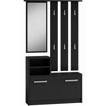 Garderoba wieszak lustro szafka na buty | Czarny - Meb24.pl