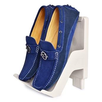 SZTAPLOWANY BUTOSTOS stojak/ regał na buty z mocnego odpornego plastiku kremowy