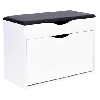 Szafka na buty Adria- biała z czarnym siedziskiem