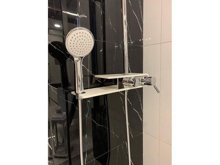 Natryskowa kolumna prysznicowa Corsan Klar Fiber CMN002 biała Kolor Biały