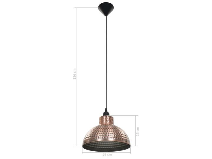 Komplet dwóch metalowych lamp wiszących - EX16-Tores Lampa z kloszem Styl Industrialny Kolor Brązowy