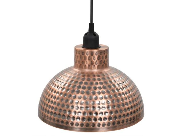 Komplet dwóch metalowych lamp wiszących - EX16-Tores Lampa z kloszem Kolor Brązowy