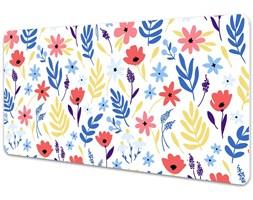 Mata na biurko Mata na biurko Kolorowe kwiaty