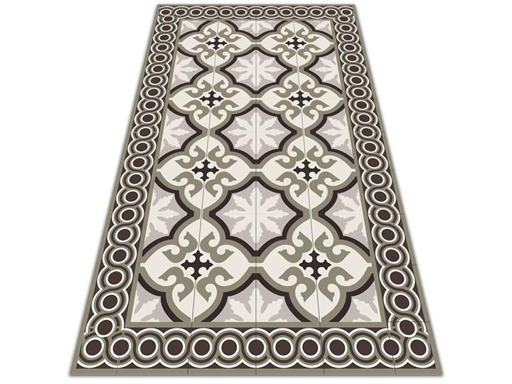 Nowoczesny dywan outdoor wzór Hiszpański wzór Dywany Prostokątny Pomieszczenie Sypialnia 60x90 cm Winyl 80x120 cm Kolor Szary