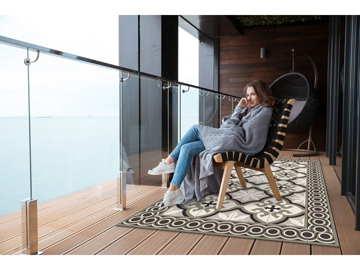 Nowoczesny dywan outdoor wzór Hiszpański wzór Dywany Winyl Prostokątny 60x90 cm 80x120 cm Kategoria Dywany Pomieszczenie Salon